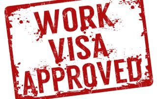 Work Visa approved stamp