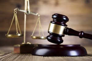 justice scales and court gavel