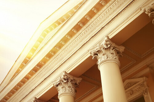 courthouse pillars in the sun