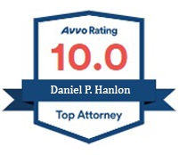 Daniel P Hanlon Avvo 10 Rating Top Attorney badge