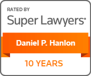 Daniel P Hanlon Super Lawyers badge 10-years award