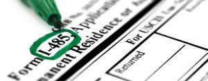 US immigration form I-485