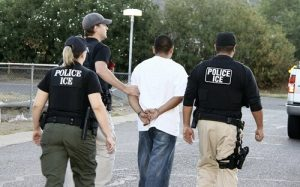 illegal immigrant being arrested by ICE